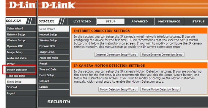dlink-motion-detection-settings-comparison