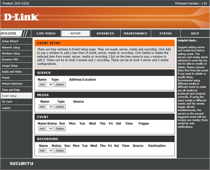 dlink-motion-detection-settings