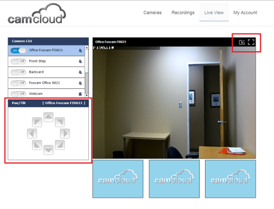 Camcloud Introduces New Pan-Tilt Feature for Foscams!