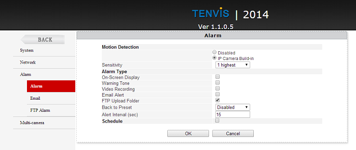 tenvis-alarm-settings