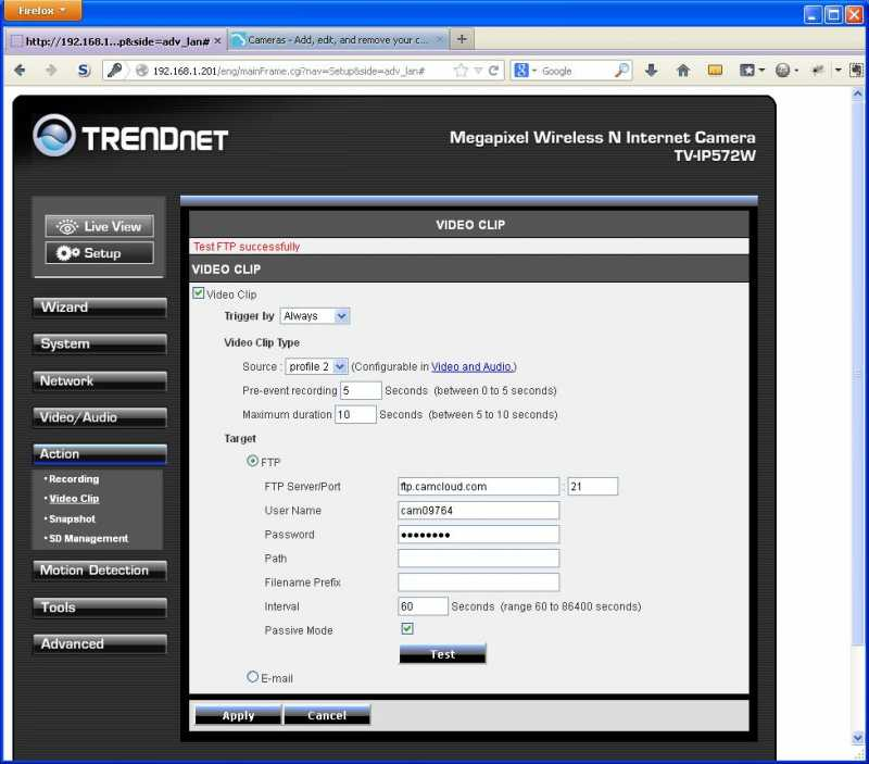 TRENDnet TV-IP572_setup_ftp