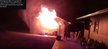 Garage Fire Captured on Video with Camcloud