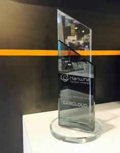 Camcloud Receives Hanwha Techwin America's Partner of the Year Award
